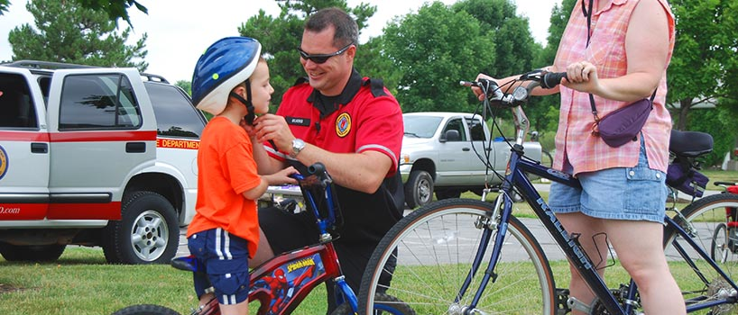 Bike Patrol with Child