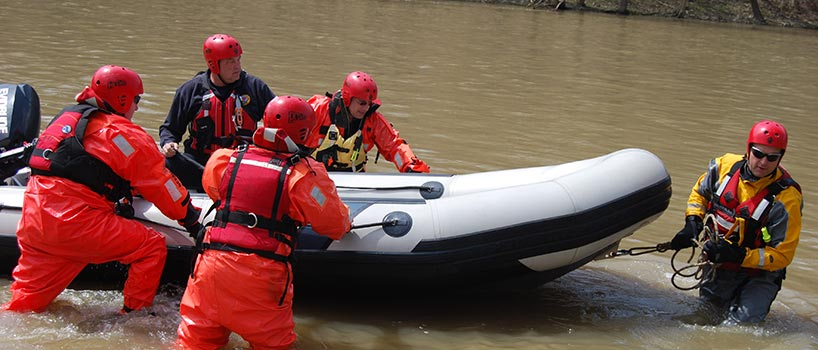 Rescue Team in Water