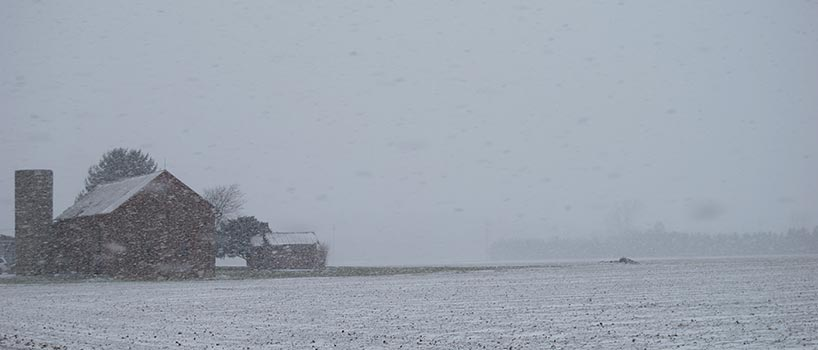 Winter scene of Washington township farm